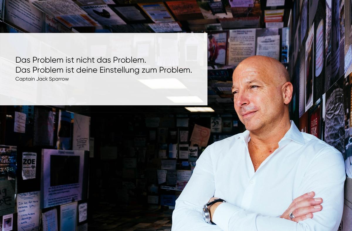 Zitat über Probleme und deren Lösungen über Leadership und Mindset