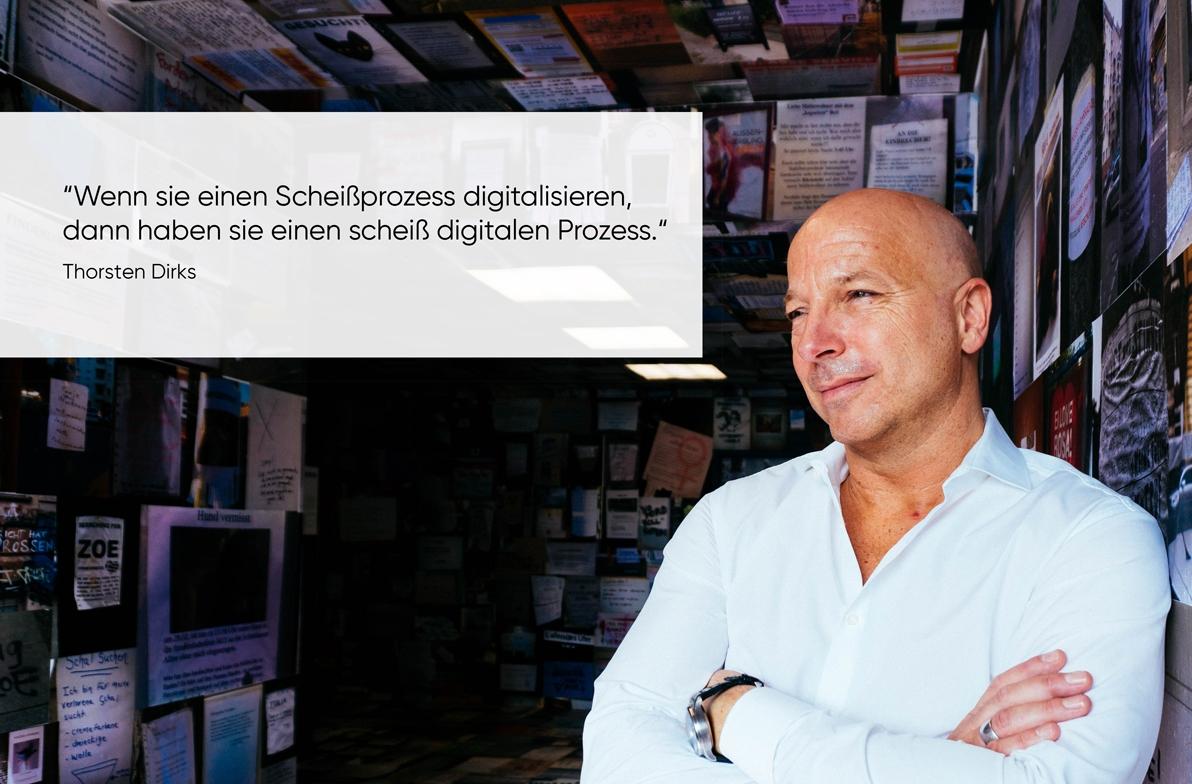 Zitat von Thorsten Dirks zum Thema Digitalisierung Digitale Transformation von Christopher Jahns