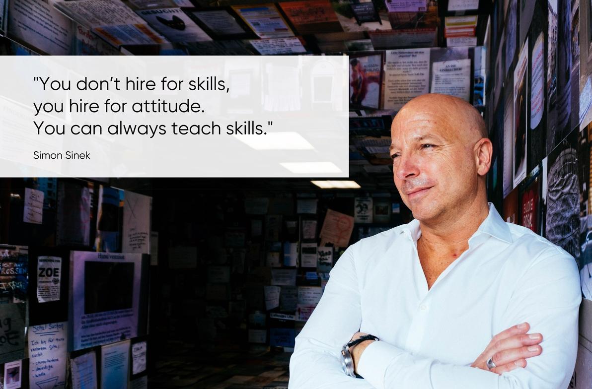 Zitat von Simon Sinek zum Thema Mitarbeiter Employee Experience von Christopher Jahns