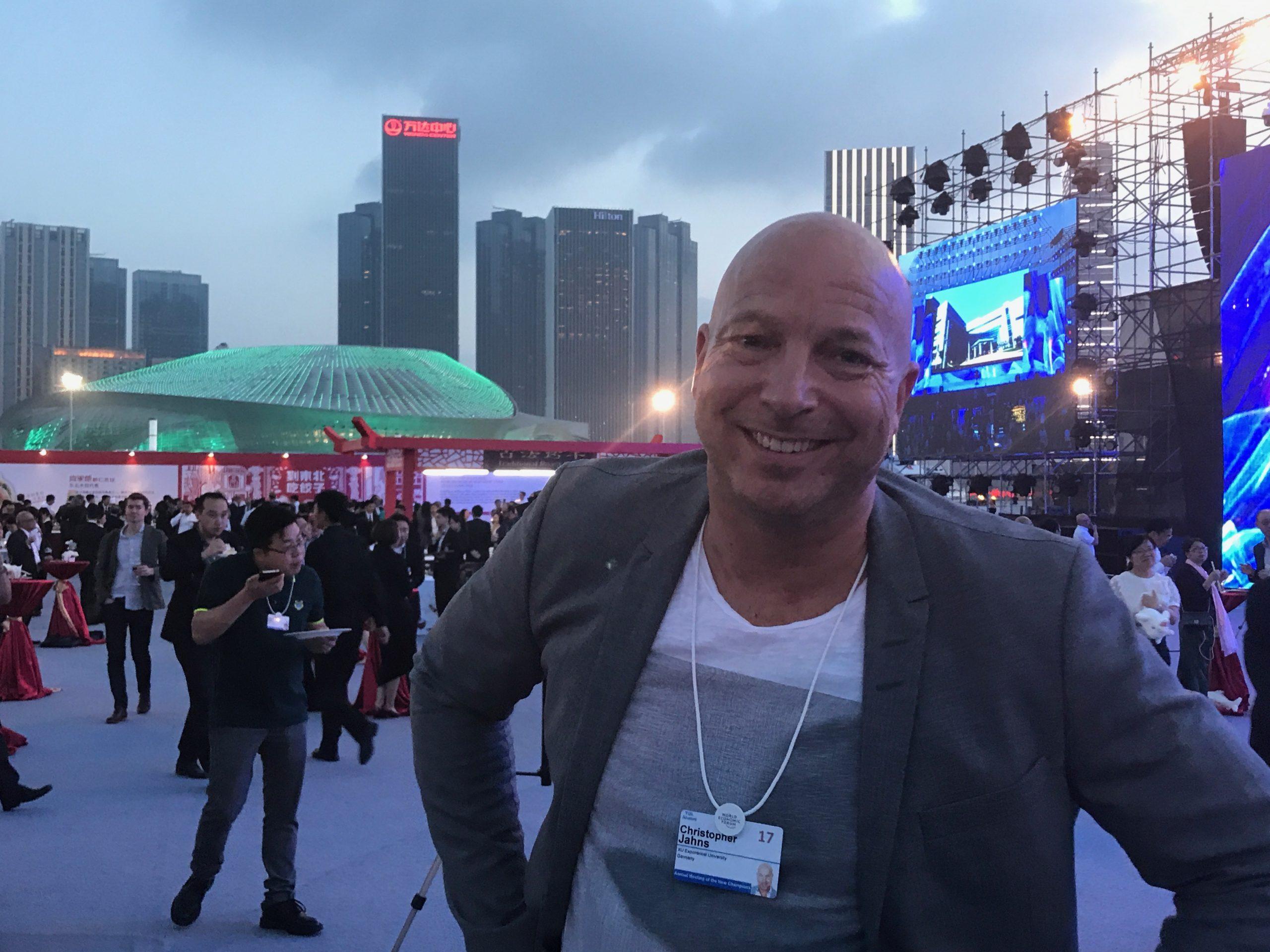Christopher Jahns 2017 beim Summer Davos des WEF in China