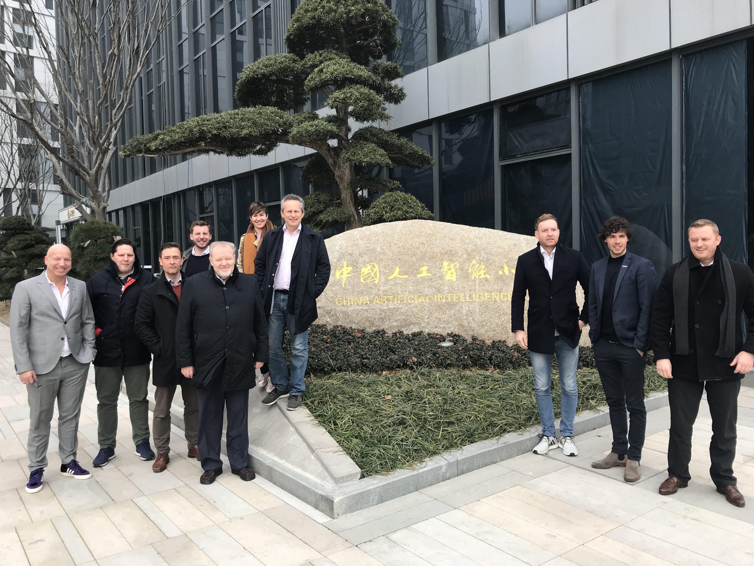 Christopher Jahns mit einer Delegation der XU Group in China im Jahr 2017
