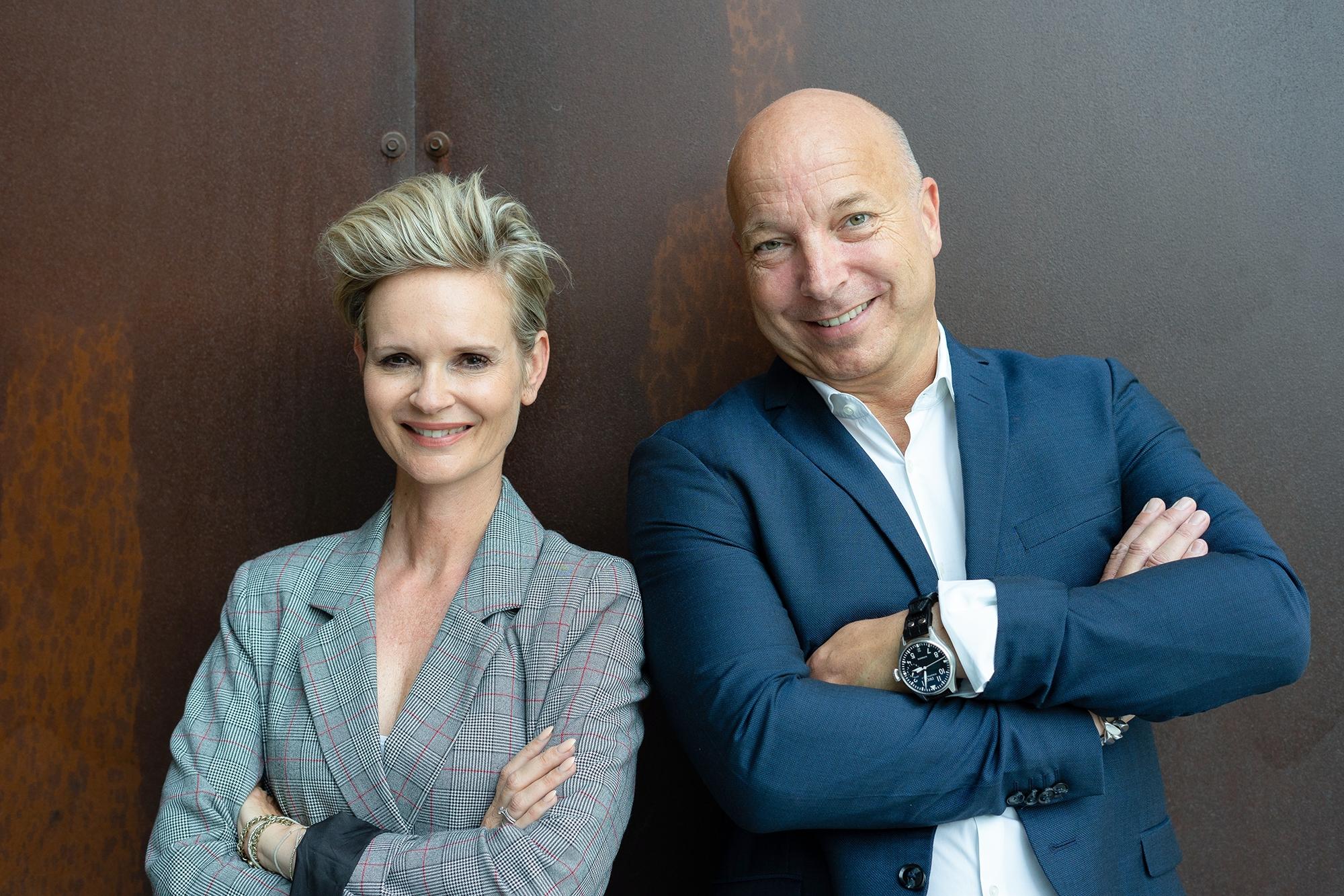 Fotoshooting mit Nicole Gaiziunas Jahns und Christopher Jahns bei WeWork in Berlin.