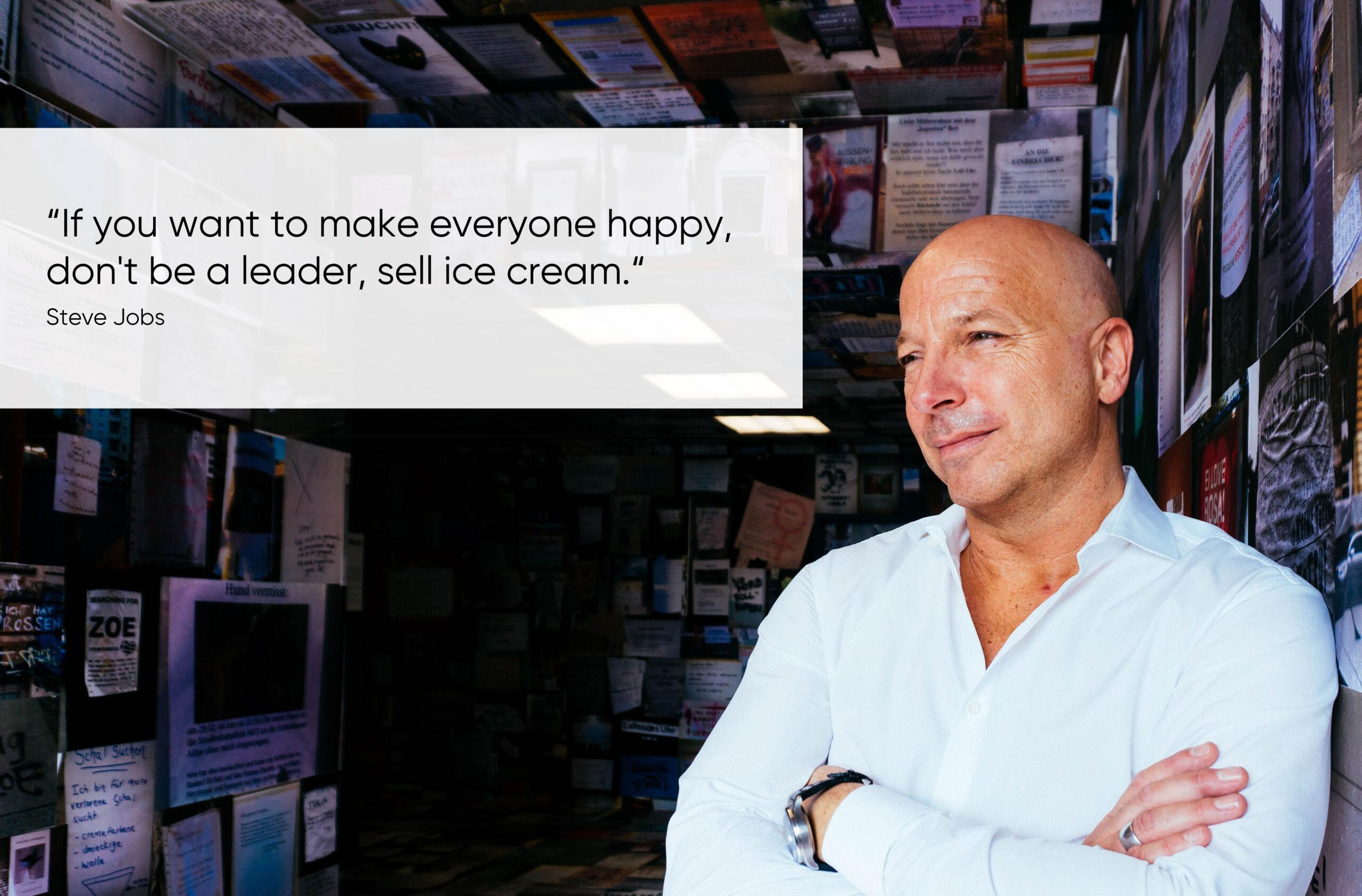 Zitat über Leadership von Steve Jobs